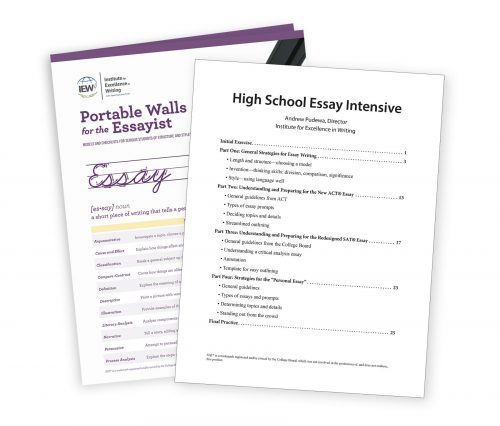 high school essay intensive Writing, the one thing that moe man does not like to do, or at least not for school i have tried everything with little to no luck that is until andrew pudewa and his team at the institute for excellence in writing (iew).